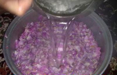 درست کردن شربت گل محمدی, طرز تهیه شربت گل محمدی