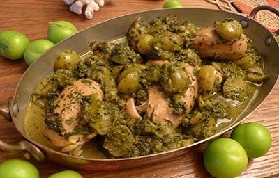 خورش گوجه سبز و مرغ,طرز تهیه خورش گوجه سبز