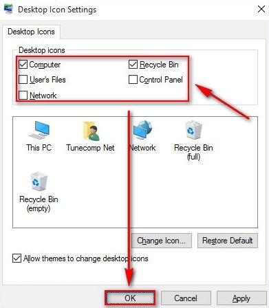 This PC در ویندوز 10, اضافه کردن آیکن This PC به صفحهی دسکتاپ,صفحهی دسکتاپ, آموزش کار با ویندوز 10