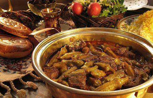 2 طرز تهیه خورش بامیه مجلسی با گوشت یا مرغ+طرز تهیه خورش بامیه جنوبی
