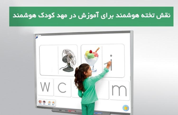 نقش تخته هوشمند برای آموزش در مهد کودک هوشمند
